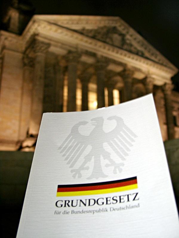 Grundgesetzlesung Deutscher Bundestag AK Vorrat OG Berlin
